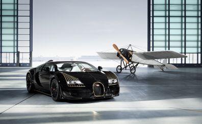 Bugatti Veyron 16.4 Grand Sport Vitesse, aircraft, 4k