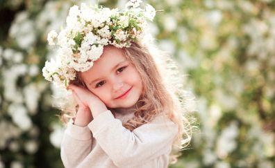 Cute kid, child, flower crown