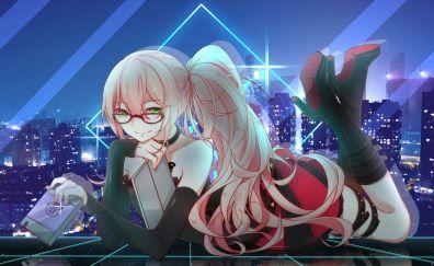 Long hair, anime girl, Gatchaman Crowds