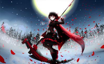 Ruby Rose, RWBY, anime girl, warrior