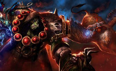 Thrall, world of warcraft, online game, warrior, fight