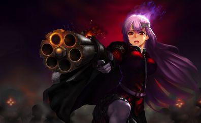 Berserker, Florence Nightingale, Fate/Grand Order, anime girl, gun