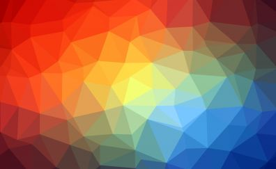 Triangles, colorful, abstract, geometrical, 5k