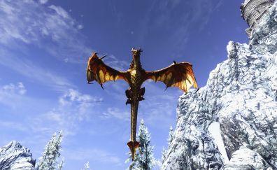 The Elder Scrolls V: Skyrim, video game, dragon