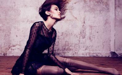 Alexa Chung, short hair, beautiful, photoshoot