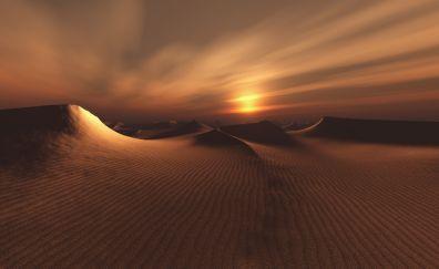 Desert in night