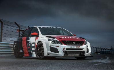 Peugeot 308 TCR, racing car, 2018 car, front