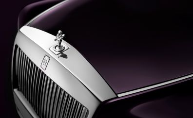 2017, Rolls-Royce Phantom, front, logo