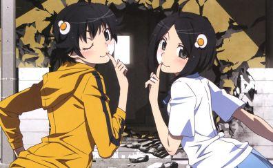 Tsukihi Araragi, Karen Araragi, Bakemonogatari, anime girls