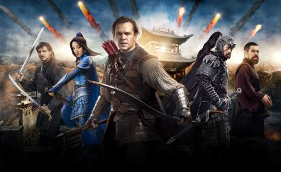 The great wall movie, 2016 movie, cast