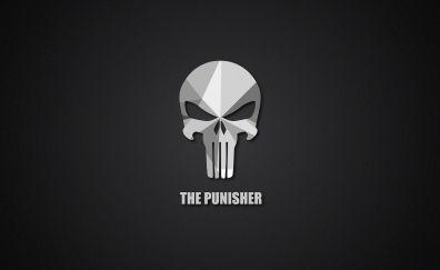 The punisher, material, logo, minimal