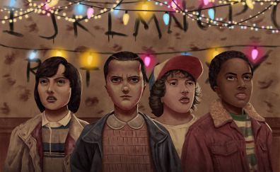 Stranger things, 2017, season 2, fan art