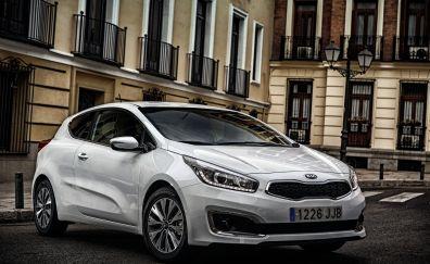 Kia cee'd compact car, silver car