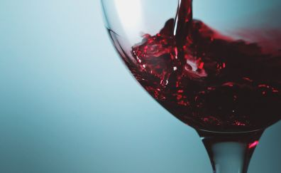 Wine in glass close up