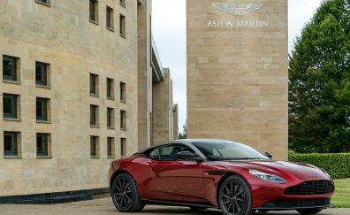 Red, luxury car, Aston Martin DB11, 4k
