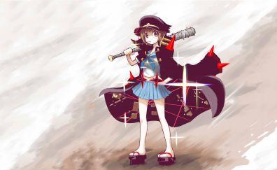 Bat, anime girl, short hair, Mako Mankanshoku, Kill la Kill