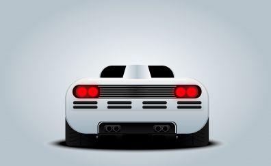 McLaren Formula 1, sports car, digital art, 5k