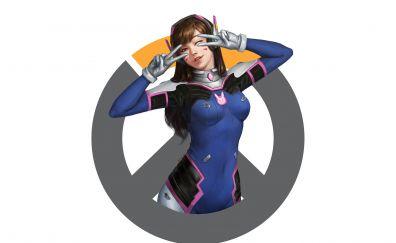 D.VA, overwatch, cute girl, online game