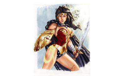 DC comics, superhero, wonder woman, fan art