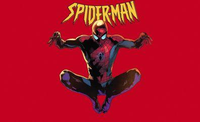 Spider man, jump, marvel comics