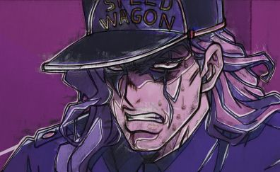 Angry, anime boy, Akira Otoishi, JoJo's Bizarre