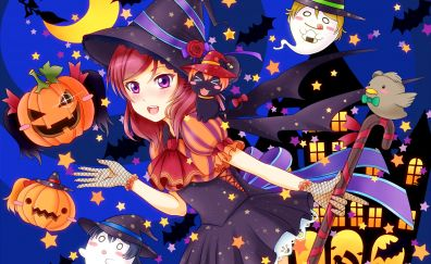 Anime girl, halloween, 2017, Maki Nishikino, Love Live!