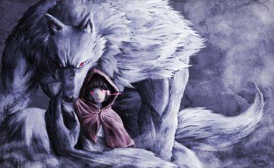 Red Riding Hood, wolf, art, original