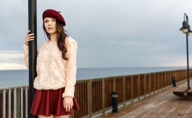 Serena wood, girl model, outdoor, 4k