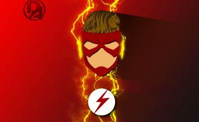 Wally west, refined costume, flash, superhero, artwork, 5k