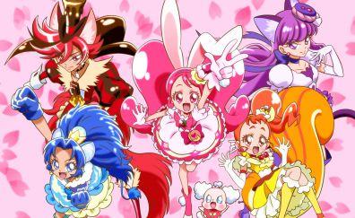Precure a la Mode, Cure Custard, Tategami Aoi, Cure Whip, Arisugawa Himari, anime