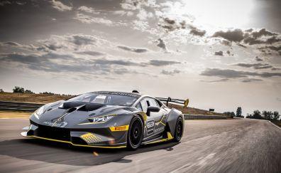 Lamborghini Huracan Super Trofeo EVO, 2018 race car, front, 4k