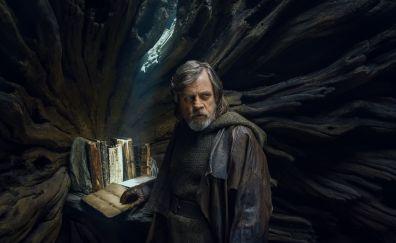 Star wars: the last jedi, Luke Skywalker, Mark Hamill, movie, 5k