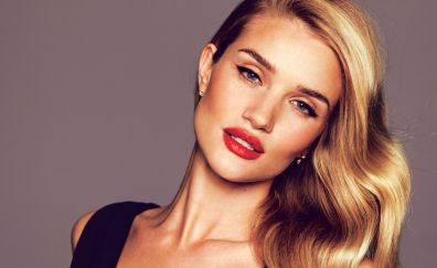Red lips, rosie huntington whiteley, blonde