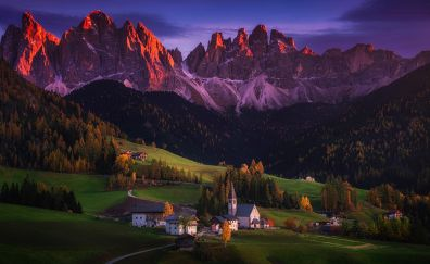 Italy, village, valley, mountains, landscape