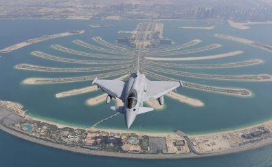 Eurofighter typhoon over Dubai