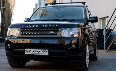 Range Rover, SUV, luxury car, front view