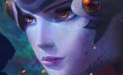 Overwatch video game, fan art, widowmaker
