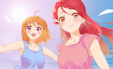 Sakurauchi Riko, Takami Chika, Love Live!, anime girls
