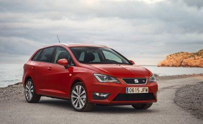 SEAT Ibiza compact car, red car