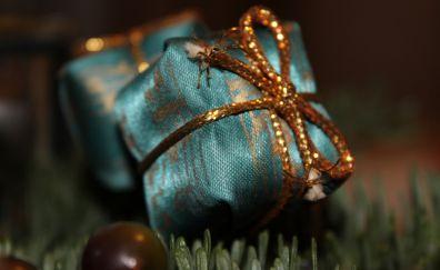 Gift wrap, ribbon, Christmas, new year