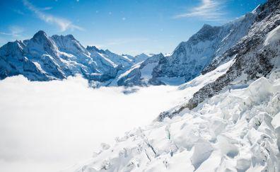 Bernese Alps of Switzerland, mountains