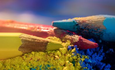 Colored pencils, sharp