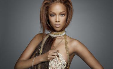 Tyra banks, victorias secret angel, girl, model