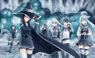 Aqua, Megumin, Konosuba, anime girls