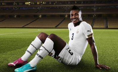 Football player, Asamoah Gyan, soccer