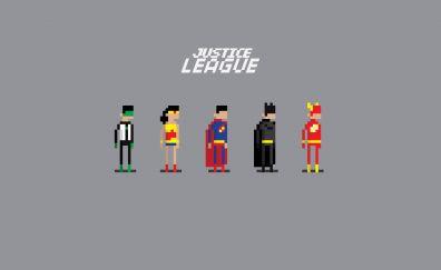 Justice League, 8 bit, pixel art, minimal