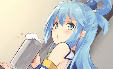 Aqua, Konosuba, anime girl