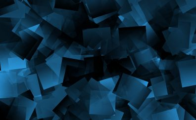 Square, cubes, abstract, dark