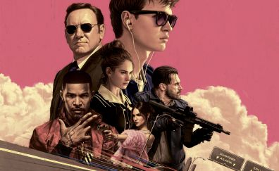 Baby Driver, 2017 movie, poster, 4k, 8k