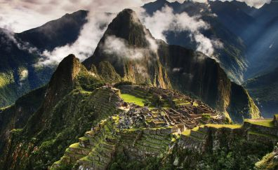 Machu picchu in Andes mountains nature